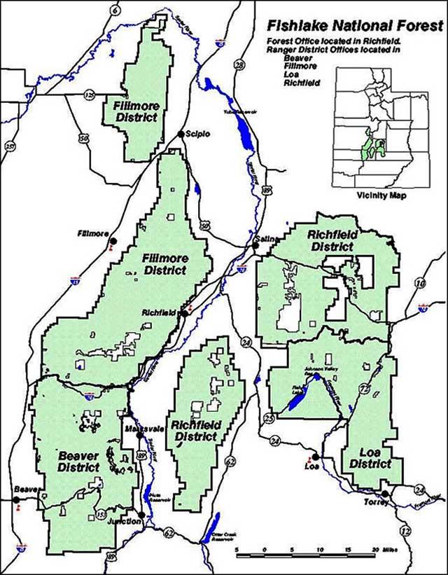 Fishlake national forest the sights and sites of america for Fish lake utah camping