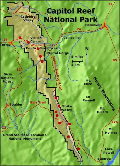 Capitol Reef National Park Utah National Park Service Sites