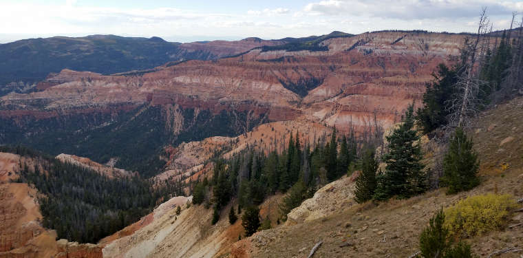 A view at Cedar Breaks National Monument