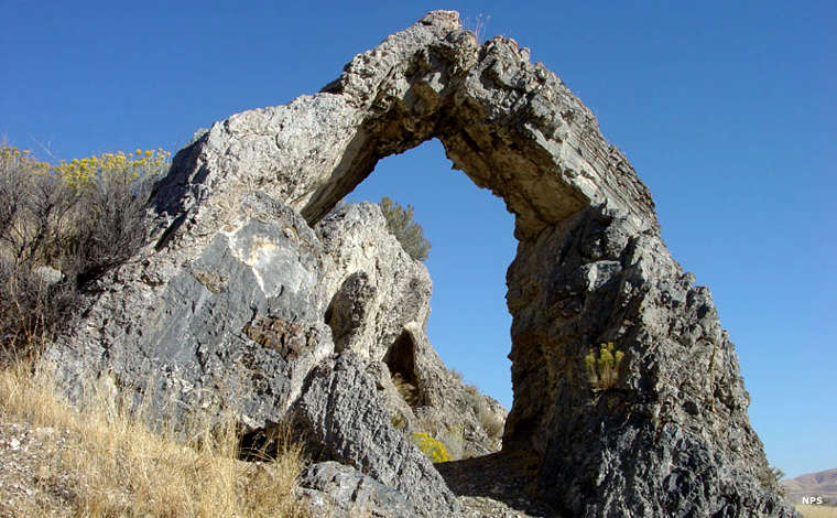 Chinaman's Arch near Golden Spike National Historic Site