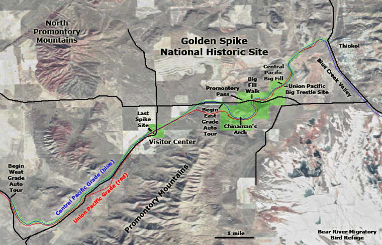 Map of the Golden Spike National Historic Site