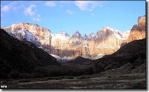 Towers of the Virgin, along the Zion Canyon Scenic Drive