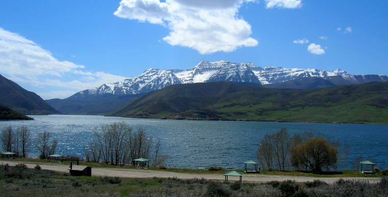 Mount Timpanogos and Deer Creek Reservoir from Charleston