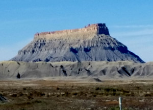 A view of Factory Butte