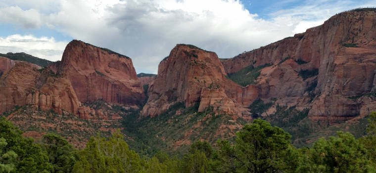 A view in the Kolob Canyons area