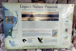 Informational sign at a Legacy Parkway kiosk