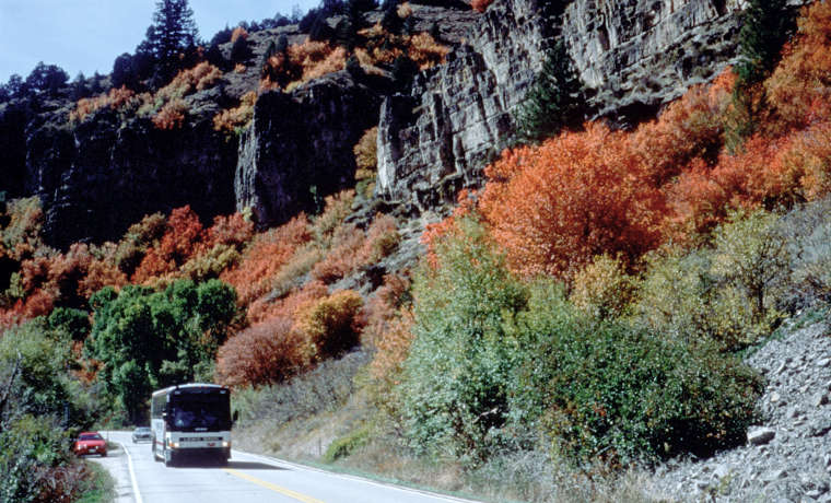 Fall colors along the Logan Canyon Scenic Drive
