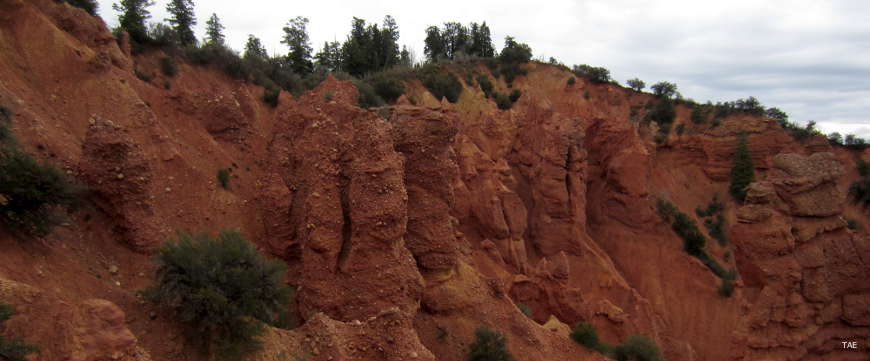 Rock formations in Devils Kitchen along the Nebo Loop Scenic Byway