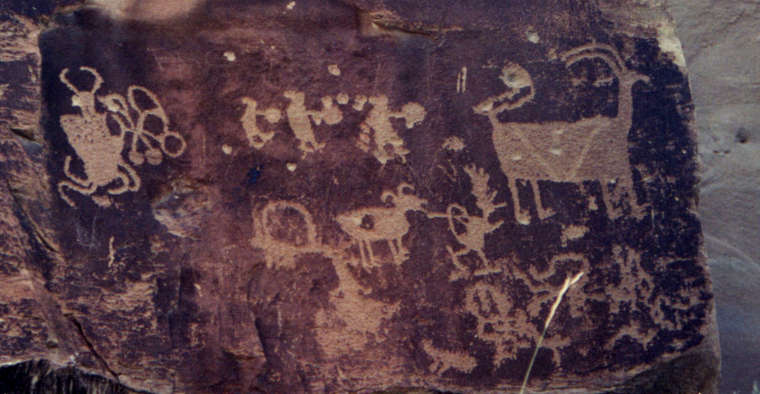 One of the rock art panels found along Ninemile Canyon Backway