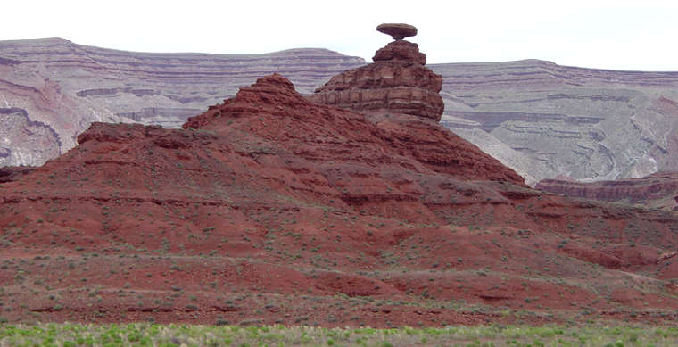Mexican Hat, namesake of the nearby town along the Monument Valley to Bluff Scenic Byway