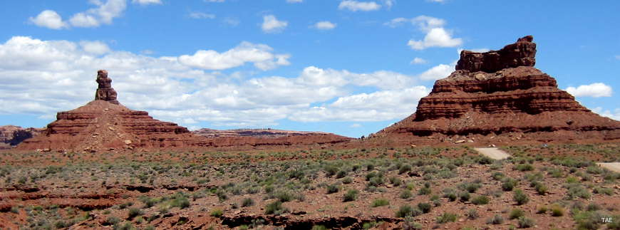 In the Valley of the Gods area north of Mexican Hat
