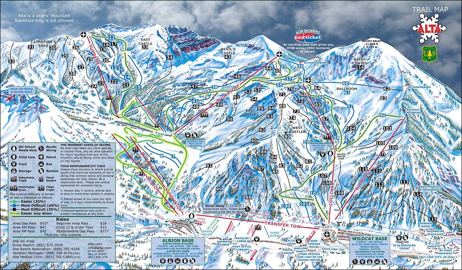 Alta Ski Area Utah Ski And Snowboard Areas