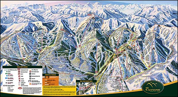 Canyons Resort ski trails map