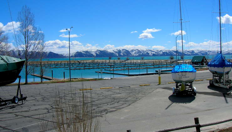 The marina at Bear Lake State Park