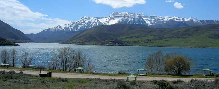 Deer Creek State Park, Mount Timpanogos in the distance
