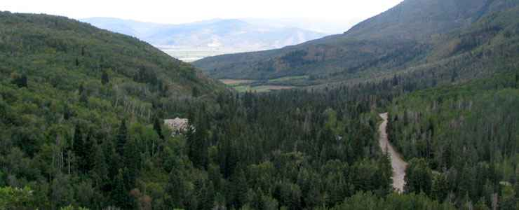Mountain valley in Wasatch Mountain State Park
