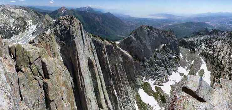 View from the summit of Lone Peak