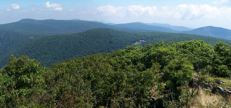 A view from the highest point in Shenandoah National Park