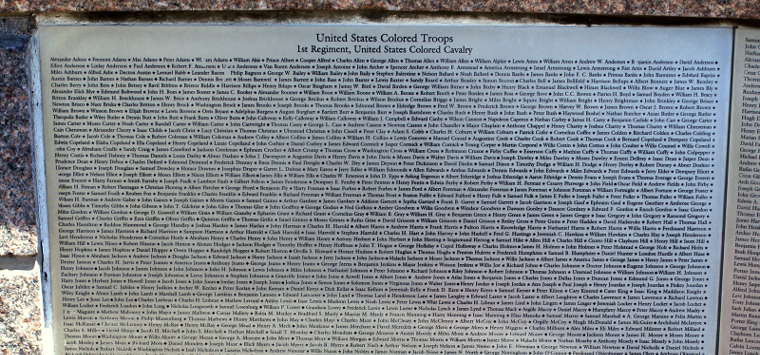 One of the Wall of Honor Plaques