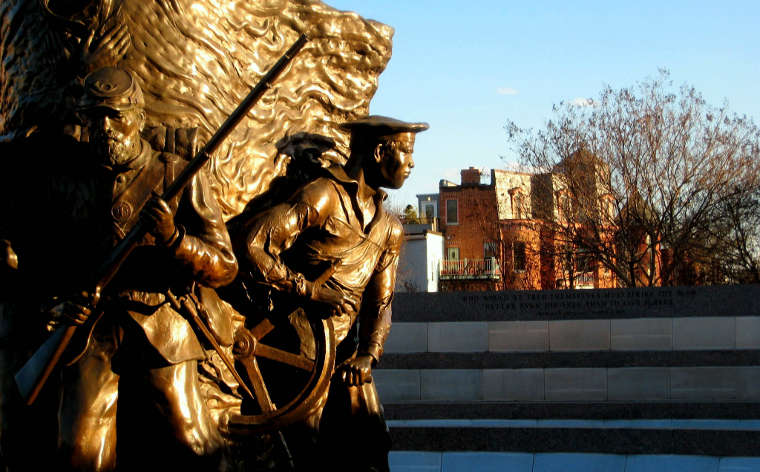 In the park with the African American Civil War Memorial
