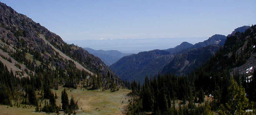 An eastern view from Marmot Pass
