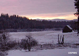 Winter at Little Pend Oreille National Wildlife Refuge