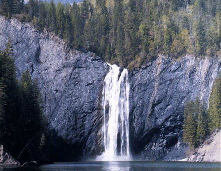 Pee Wee Falls, near the North Pend Oreille Scenic Byway