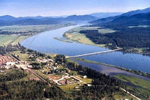 The Pend Oreille River near Cusick, along the Pend Oreille Valley Scenic Byway