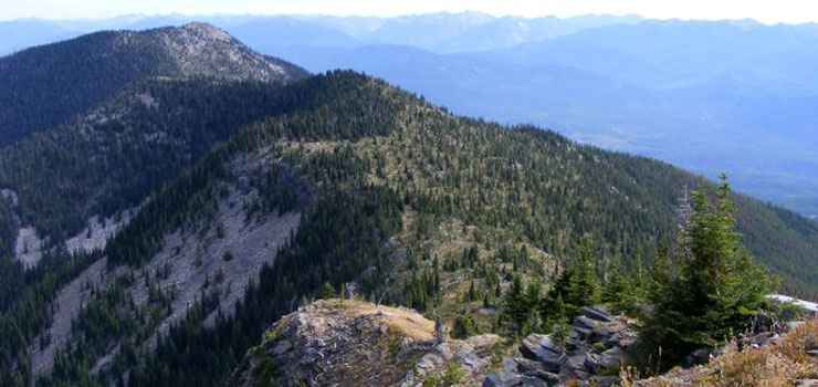 One of the main ridges in Salmo-Priest Wilderness