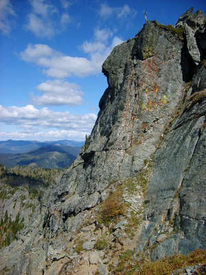 Rock wall in Salmo-Priest Wilderness
