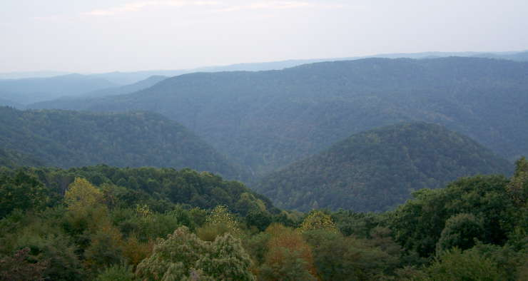 A view across Bluestone Gorge