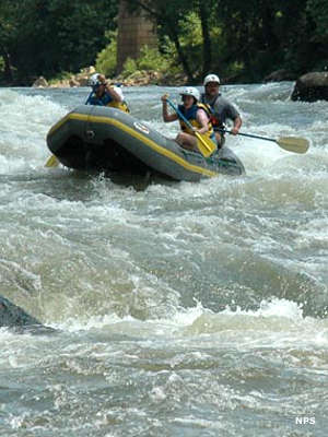 Whitewater rafting at New River Gorge National River