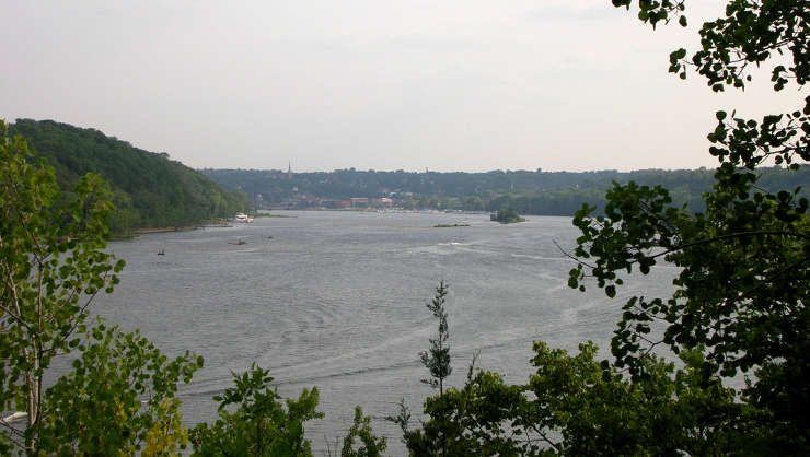 The St. Croix River above Stillwater, Minnesota