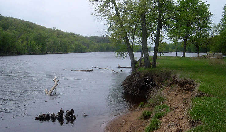 The St. Croix River near Osceola