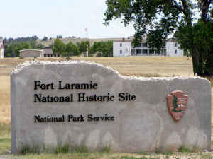 Sign at entrance to Fort Laramie National Historic Site