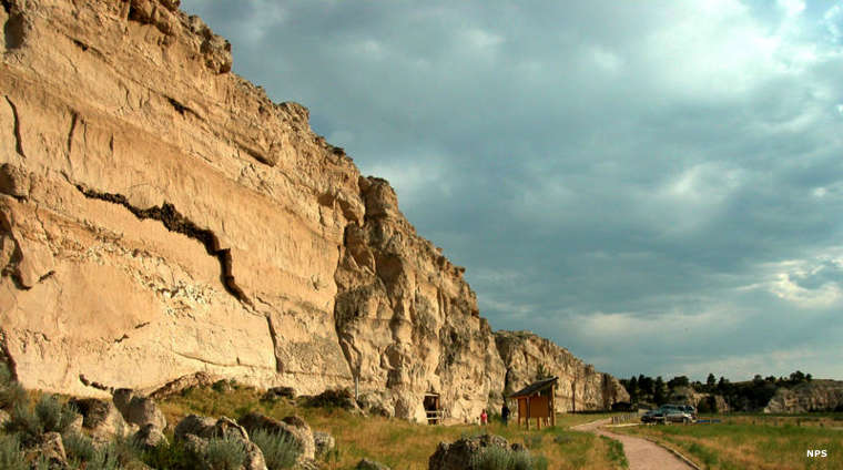 Register Cliff, a historic site along the Oregon Trail Historic Byway