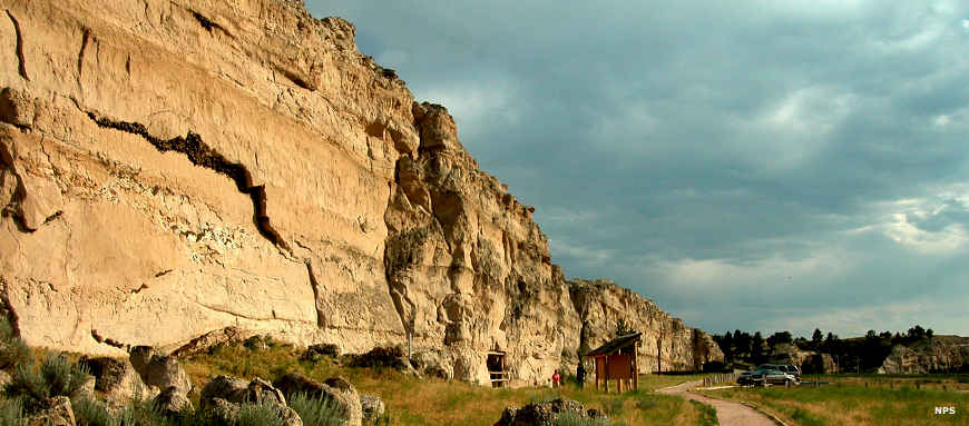 Register Cliff, northwest of Fort Laramie on the Oregon Trail