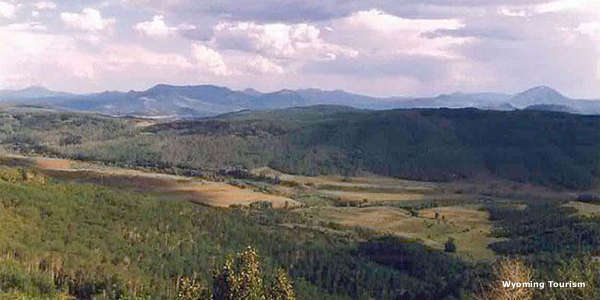 A view in the Sierra Madre Mountains of Wyoming