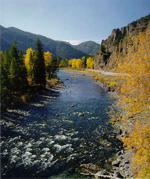 North Fork of the Shoshone River along the Buffalo Bill Cody Scenic Byway