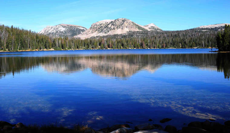 Mirror Lake, in the Uinta Mountains