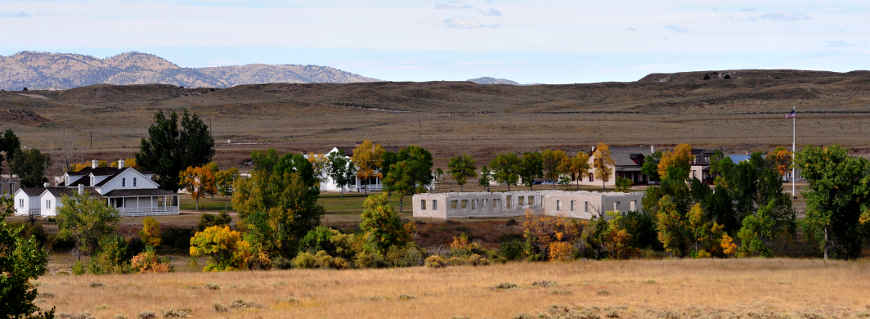 Fort Laramie from the Oregon Trail Historic Byway