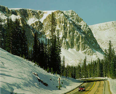 Winter along the Snowy Range Scenic Byway