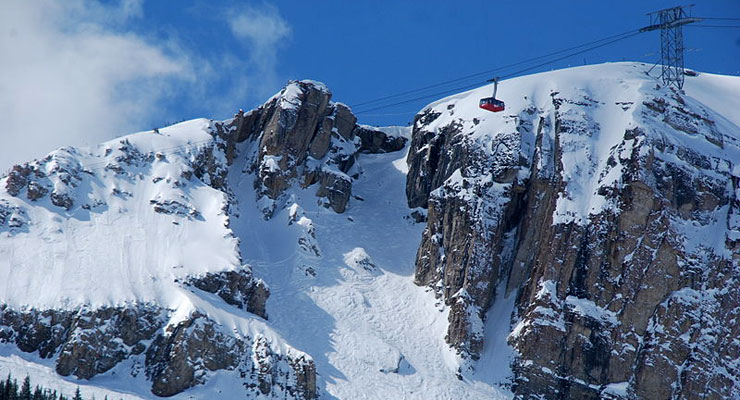 Corbet Couloir, one of the expert runs at Jackson Hole Mountain Resort