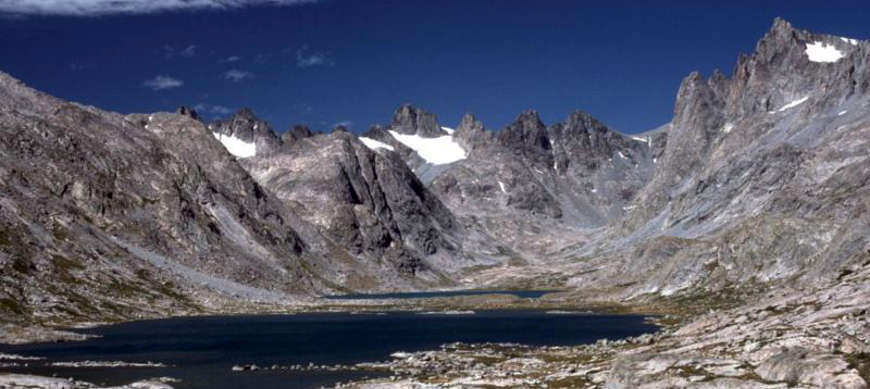 Titcomb Lakes in Bridger Wilderness, high in the Wind River Range