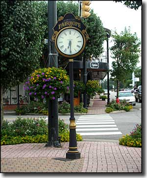 Fairhope Clock in Fairhope, Alabama