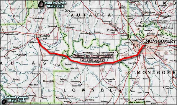 Selma To Montgomery Historic Trail Scenic And Historic Byways In