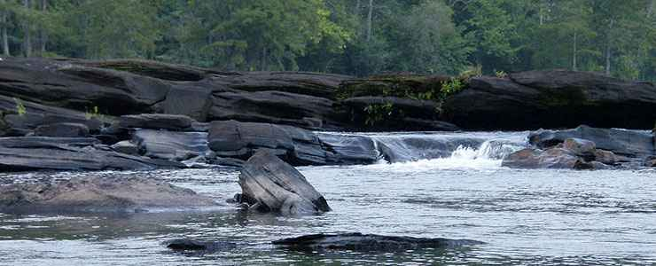 The Tallapoosa River Shoals at Horseshoe Bend National Military Park