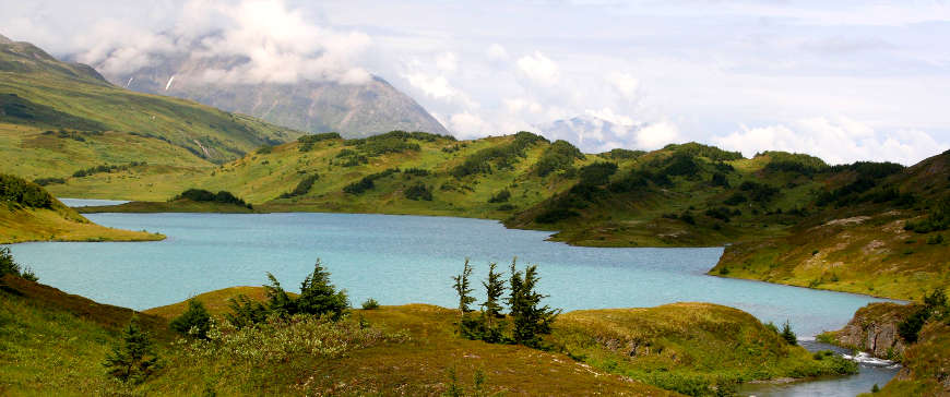 A view of Lost Lake in Chugach National Forest