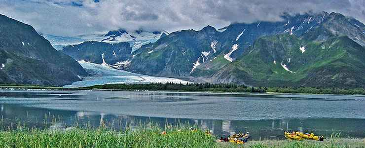 The view across Pederson Lagoon at Kenai Fjords National Park