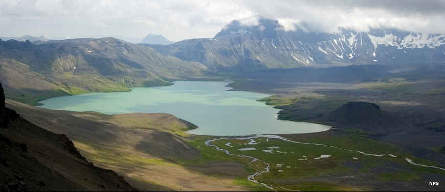 Surprise Lake, on the floor of Aniakchak Caldera, Aniakchak National Monument